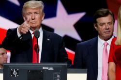 Donald Trump s Paulem Manafortem v červenci 2016