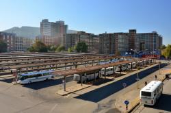 Autobusové nádraží ve středu Zlína