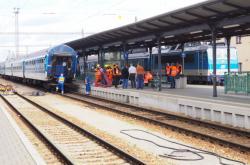 Nehoda na nádraží v Českých Budějovicích