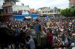 Davy migrantů z Hondurasu