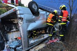 Nehoda kamionu s dodávku na Frýdecko-Místecku
