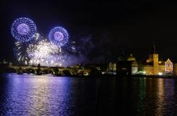 Pražský novoroční ohňostroj 2019