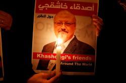Protest za novináře Džamála Chášakdžího