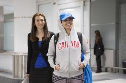 Saúdka po příletu do kanadského Toronta
