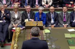Debata v britském parlamentu