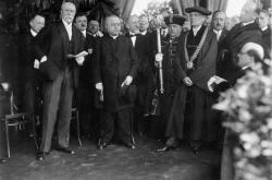 T.G.Masaryk při základního kamene právnické fakulty