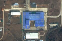 Satelitní snímek základny Sanumtong z 22. února 2019
