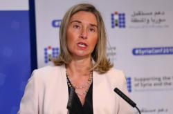 Federica Mogheriniová na konferenci o budoucnosti Sýrie