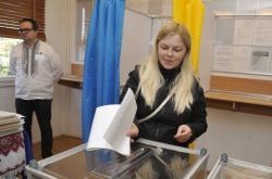 Ukrajinci volili i v Česku