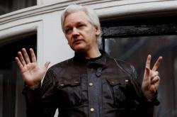Julian Assange na ekvádorské ambasádě v Londýně (snímek z května 2017)