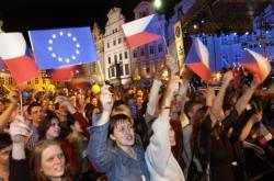 Oslavy vstupu České republiky do Evropské unie v noci na prvního května 2004