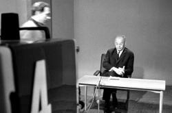 Gustáv Husák při televizním projevu 17. dubna 1969