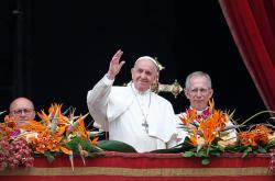 Papež František při poselství Městu a světu