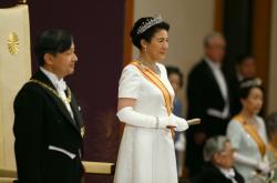 Nový japonský císař Naruhito s manželkou Masako