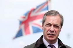 Šéf Strany pro brexit Nigel Farage