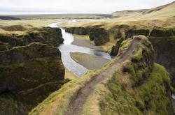 Islandský kaňon Fjadrárgljúfur