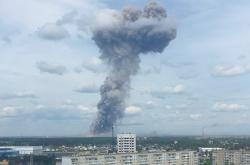 Mrak po výbuchu v ruské továrně