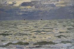 Claude Monet / Mořská scenerie, Le Havre, kolem 1866