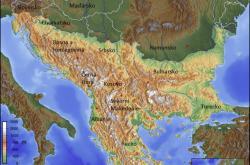 Geografická mapa Balkánu