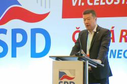 Tomio Okamura na konferenci SPD