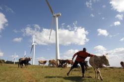 Větrná elektrárna v Keni (ilustrační foto)