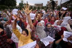 Protest ve Šrínagaru