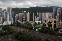 Zaplněný Victoria Park v Hongkongu