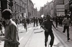 Demonstrace v srpnu 1969, záběr z pražské ulice Na Poříčí
