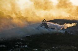 Požár na ostrově Samos