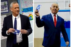 Benny Gantz a Benjamin Netanjahu