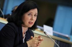 Věra Jourová v Evropském parlamentu