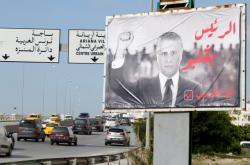 Tuniská předvolební kampaň (na snímku Nabíl Karúí)