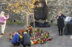 Pietní vzpomínka u Gottovy lípy v Újezdu u Svatého Kříže na Rokycansku