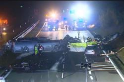 Hromadná nehoda cisterny a osobních aut na D1