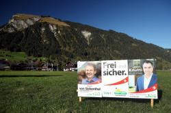 Billboard švýcarských nacionalistů