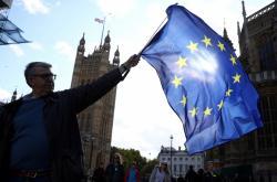 Protest stoupenců setrvání v EU
