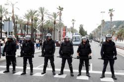 Policie v ulicích Barcelony