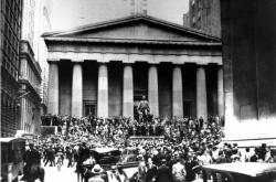 Panika na americké burze na Wall Street