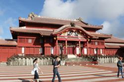 Japonský hrad Šuri před požárem