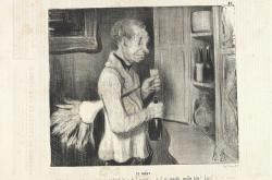 Honoré Daumier / Chuť, 1839, křídová litografie