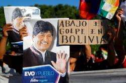 Stoupenci sesazeného prezidenta Eva Moralese