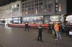 Policie na místě útoku v Haagu