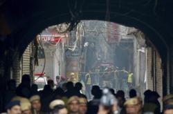 Požár v centru Dillí