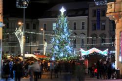 Vánoční strom na náměstí Svobody