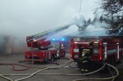 Požár rekreačního střediska ve Věšíně