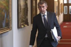 Premiér Andrej Babiš (ANO) přichází na schůzi vlády
