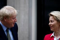 Boris Johnson a Ursula von der Leyenová