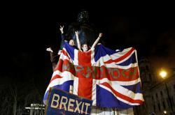 Brexitové oslavy v Londýně