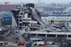 Zřícený ruský stadion
