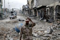 Syrský voják v Idlibu